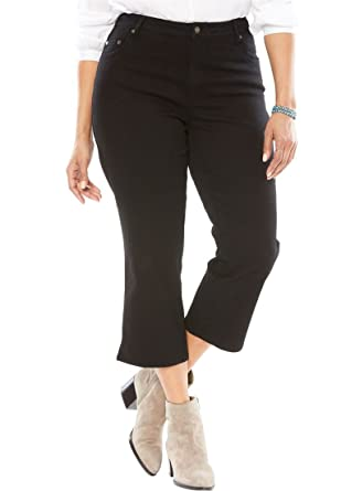 6d709588cd5ff Woman Within Plus Size Capri Stretch Jean at Amazon Women s Jeans store