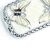Handmade Fold Make-up Classical Mirror, White Oil