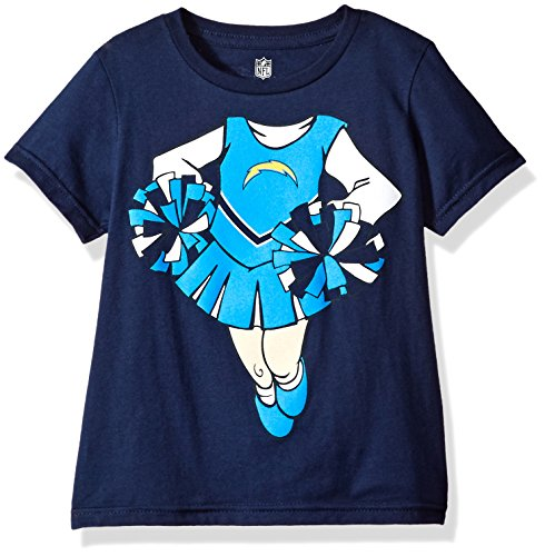 Outerstuff NFL Toddler Dream Cheerleader Short Sleeve Tee-Navy-2T, Los Angeles Chargers