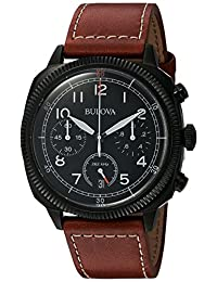 Bulova Men's 98B245 Brown Leather Quartz Watch