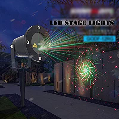 OOFAY Christmas Projector Lights, LED Interesting Spotlight With Remote Control, Red And Green Colourful Pattern Projector For Christmas,Halloween, Birthday, Parties, Landscape, And Garden Decoration