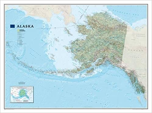 National Geographic Map Alaska, Planokarte National Geographic ...