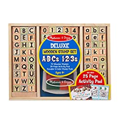 Melissa & Doug Deluxe Wooden Stamp Set -...