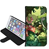 iPhone SE Case, iPhone 5s 5 Case, Pokemon Bulbasaur PU Leather Folio Flip Wallet Case Cover with ID Credit Card Holder with Stand for iPhone 5s/5/SE + Thewart_Eight® Stylus Pen (#120)