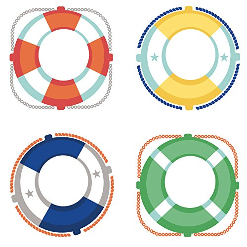 S.S. Discover Life Preservers Cut-Outs