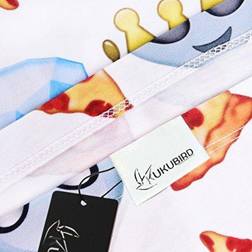 Kukubird Neue Sommer Verschiedene Emoji Bunte Muster Drucken Skater Röcke Maliny z9ZFo2K