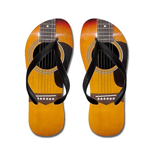 Cafepress Guitar - Infradito, Divertenti Sandali Infradito, Sandali Da Spiaggia Neri