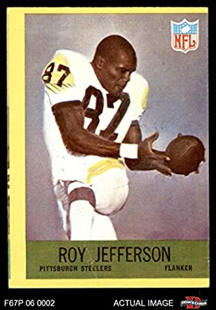 25205bd9bdc 1967 Philadelphia   152 Roy Jefferson Pittsburgh Steelers (Football Card)  Dean s Cards 2 -