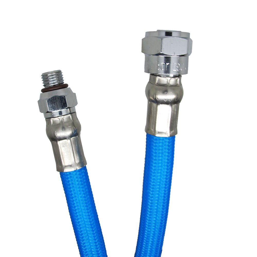 Scuba Choice 27-Inch Colored LP Low Pressure Braided Hose for 2nd Stage Regulator and Octopus, Blue