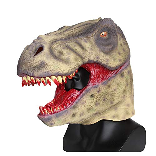 Scary Bloody Tyrannosaurus Dinosaur Mask Horror Halloween One Size Evil Bloody Teeth Dinosaur T-Rex Mask by Halloween Paradise (Image #5)