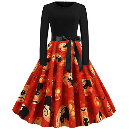 Disfraces Halloween Baratos Ideas (Lolita Dresses for Women, Halloween Pumpkin Party Cosplay Vampire Witch bat Spider Skull Trick or Treat Candy)