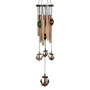 "Beisky Wind Chimes Outdoor Deep Tone 24"" Rust-Proof Copper Amazing Grace Wind Chimes with 9 Metal Tubes Wind Chime for Garden Patio Patio Yard and Home Decoration"