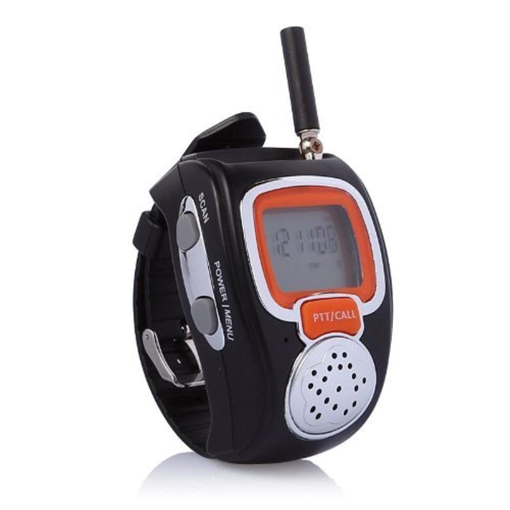 Julyfox Walkie Talkies Watches, 22 Channel 2 Way Radios Battery Operated Rechargeable Backlit LCD Screen Earpiece with Microphone VOX Hands Free Operation for Travel Shopping Kids Adults 2 Pack