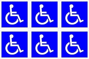 """ADA ENTRANCE DECAL WITH HANDICAP SYMBOL 5"""" X 5"""" (6 PACK)"""
