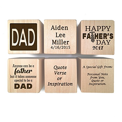 Fathers Day Gift Personalized Block First Father 39 S Day