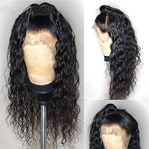 ALYSSA Loose Deep Curly Lace Front Wig With Baby Hair Pre Plucked Peruvian Virgin Human Hair Wigs For Black Women 10inch Natural Color