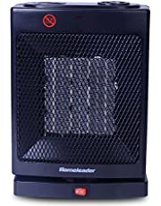 Homeleader Space Heater, Oscillating Ceramic Portable Heater with Built-in Adjustable Thermostat, 750W/1500W, NSB-200C3H