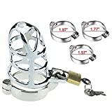 Cock Cage Male Chastity Lock Device, Stainless
