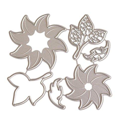 TOPUNDER Flower Heart Metal Cutting Dies Stencils DIY Scrapbooking Album Paper Card]()