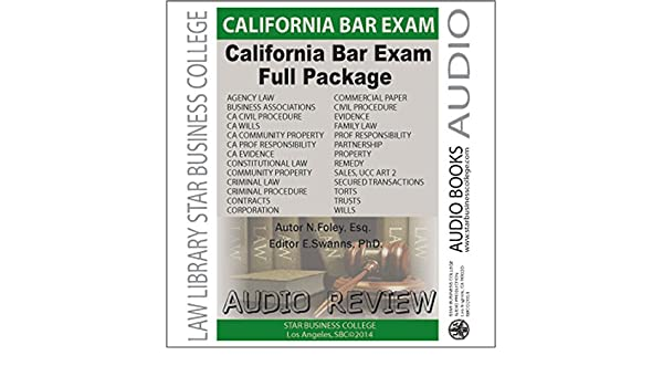 California Bar Exam Audio Review, Full Package, 5th Edition