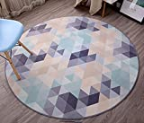 Simple trend round carpet / computer chair bedroom bedside sofa mat / creative European anti-skid washable fashion carpet ( Size : 180180cm )