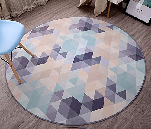 Simple trend round carpet / computer chair bedroom bedside sofa mat / creative European anti-skid washable fashion carpet ( Size : 180180cm ) by XIN-Carpet
