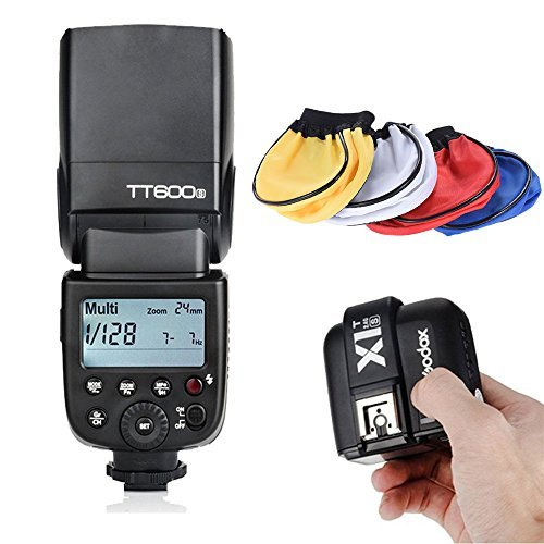 Godox TT600S Thinklite GN60 Flash Built-in 2 4G Wireless X System for Sony + Godox X1T-S TTL 1/8000S HSS Remote Trigger Transmiiter + Universal Cloth Soft Bounce Diffuser Softboxの商品画像