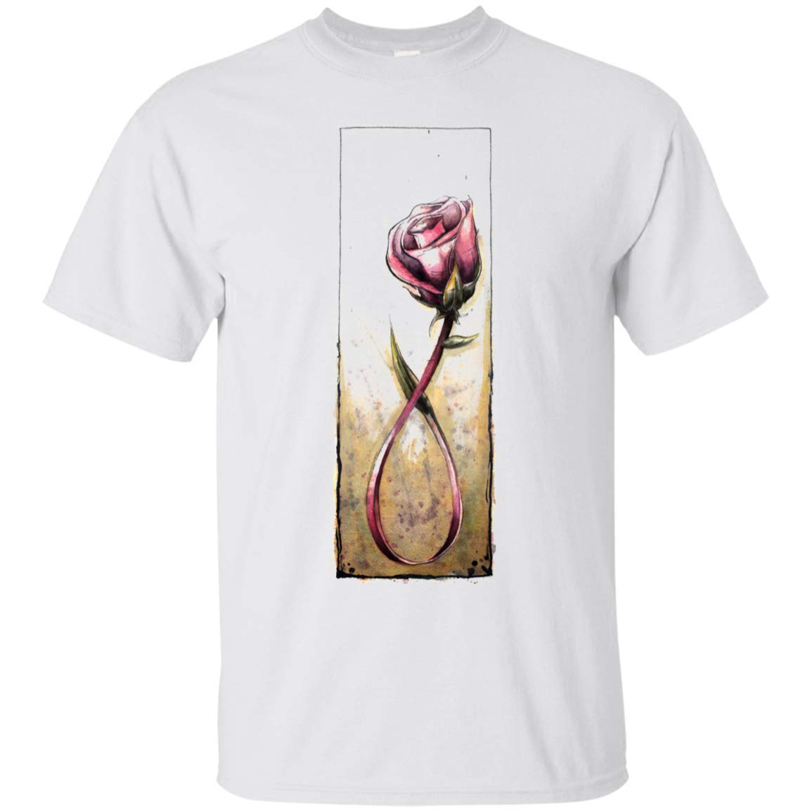 Amazon.com: breast cancer rose Ultra Cotton T-Shirt: Clothing