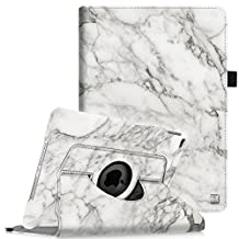 Fintie iPad Air 2 Case - 360 Degree Rotating Stand Case with Smart Cover Auto Sleep / Wake Feature for Apple iPad Air 2 (iPad 6) 2014 Model, Marble