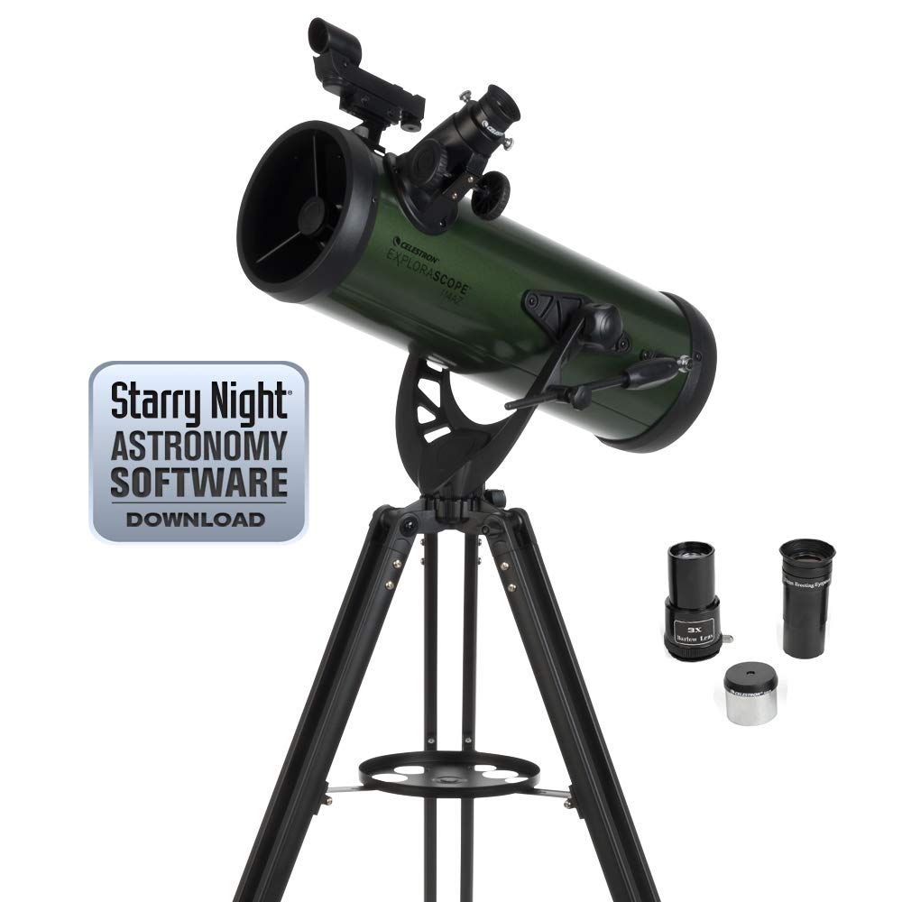 Celestron ExploraScope 22103 114AZ Reflector Telescope by Celestron