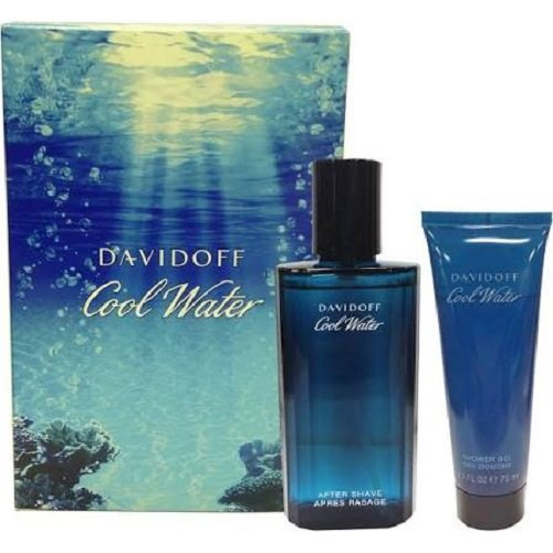 Davidoff, Cool Water, Set da regalo per uomo, incl. Dopobarba (75 ml), balsamo dopobarba (50 ml) e bagnoschiuma (50 ml) DAV-COO-M-05-075-04K