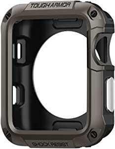 Spigen Tough Armor Designed for Apple Watch Case for 42mm Series 3 / Series 2 / Series 1 and Built in Screen Protector - Gunmetal