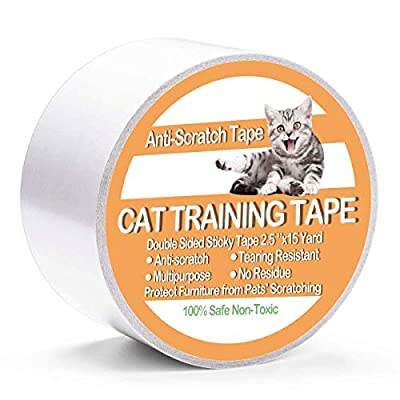 Cat scratching Shenviz Anti Scratch Cat Traning Tape Double Sided Sticky Cat... [tag]