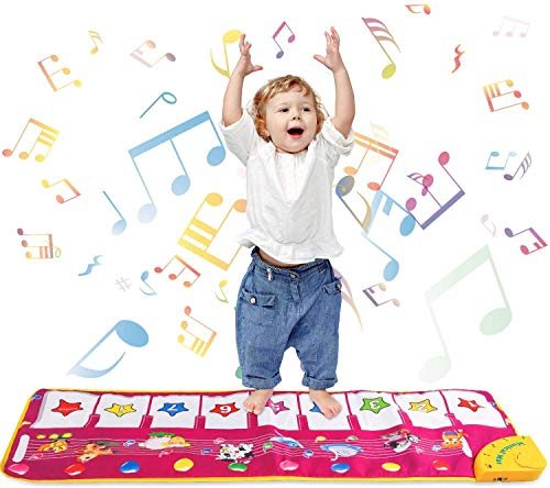Review Of Piano Mat Music Dance Mat Piano Keyboard Mat Foot Musical Keyboard Play Mat with 8 Animal ...