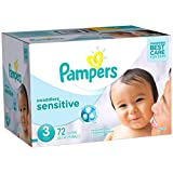 Pampers Swaddlers Sensitive Diapers Size 3, 72 Count