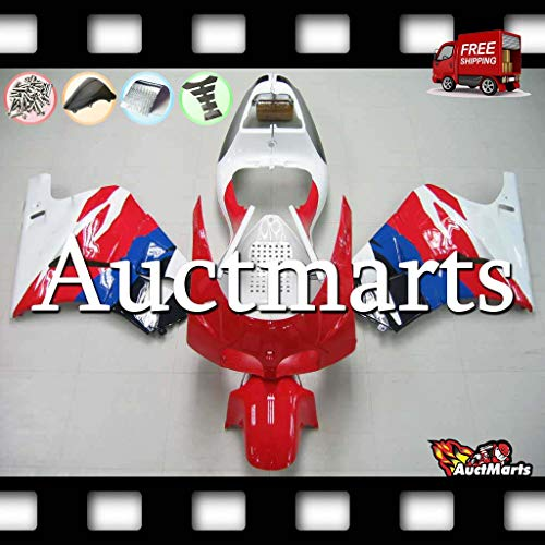 Auctmarts Injection Fairing Kit ABS Plastics Bodywork with FREE Bolt Kit for Honda RVF400 RVF 400 NC35 NC 35 1994 1995 1996 1997 1998 (P/N:7c2)