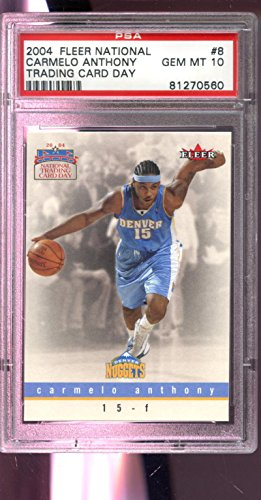 086d74d5966 2003-04 2004 Fleer National Trading Card Day  8 Carmelo Anthony ROOKIE PSA  10