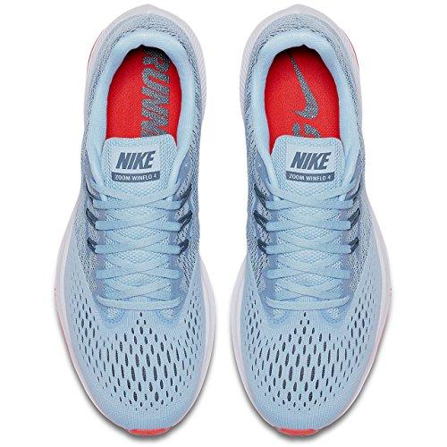 NIKE Herren Zoom Winflo 4 Laufschuh Ice Blue / Blue Fox-leuchtend Crimson-weiß