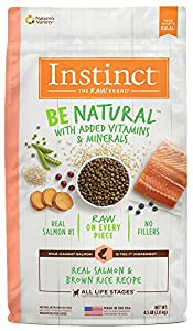 Instinct Be Natural Real Salmon & Brown Rice Recipe Natural Dry Dog Food by Nature's Variety, 4.5 lb. Bag