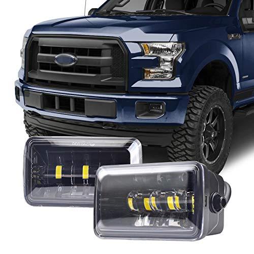 Tecoom Fog Lights Set of 2 for Ford F150 2015-2018 Aprroved by DOT SEA Waterproof Bright 2200 lumen LED Fog Driving Light Road Off Lights (Best 2019 F150 Upgrades)