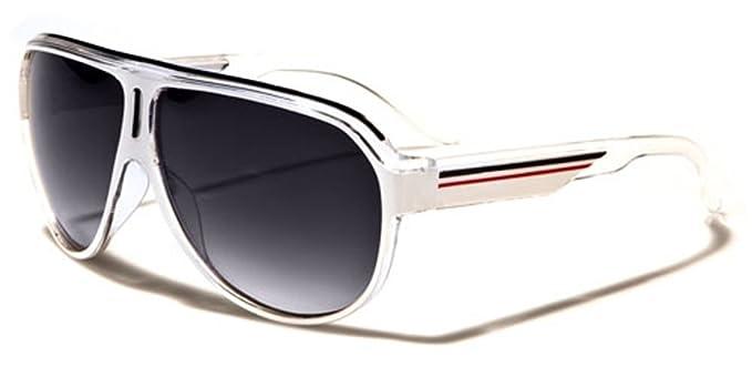 27f7c53ad7f Amazon.com  Turbo Aviator Men s Women s Retro Sunglasses Flat Top Frame   Clothing