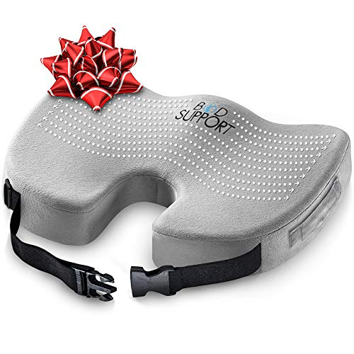 Seat Cushion Memory Foam - With Orthopedic Design To Relieve Coccyx, Sciatica And Tailbone Pain From Prolonged Sitting In The Car, Office Or Kitchen Chairs (At Big Chair Lots Cushions Outdoor)
