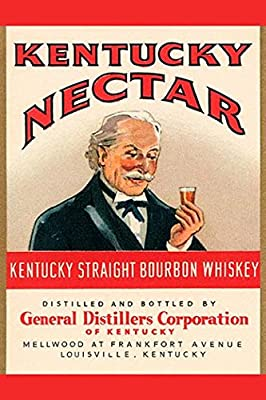 Buyenlarge 'Kentucky Nectar Straight Bourbon Whiskey' Paper Poster, 20 by 30-Inch