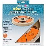 "Pet Rageous Thinkrageous Interactive Beginner Level Puzzle Piece Pet Toy, 9.84"", Orange"