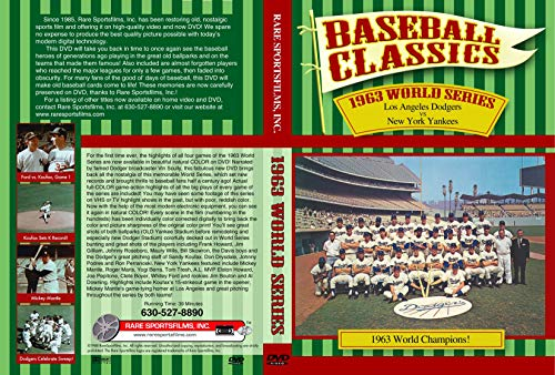 - 1963 World Series DVD Los Angeles Dodgers vs New York Yankees in Color Sandy Koufax Don Drysdale Mickey Mantle