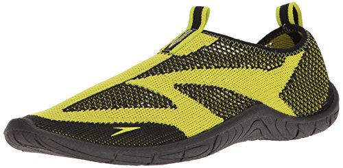 Speedo Men's Surf Knit Athletic Water Shoe, Black/Sulphur Spring, 9 C/D US from Speedo