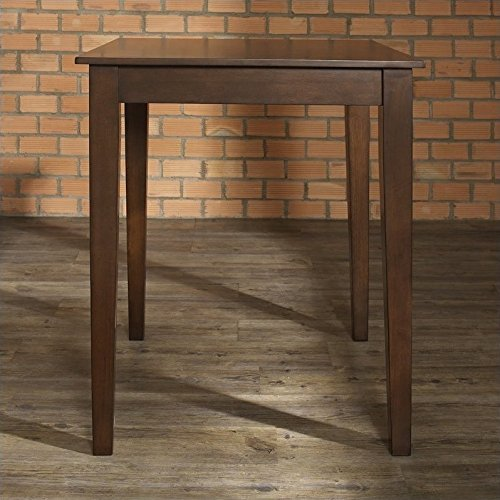 Height Maple Finish Dining Table (Crosley Furniture 32-inch Square Tapered Leg Pub Table - Vintage Mahogany)