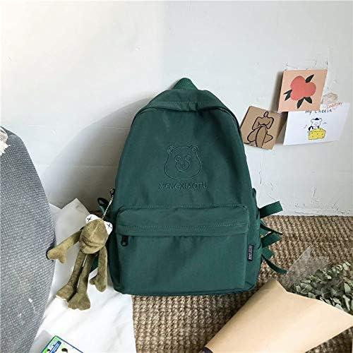 GYHJG Schoolbag Weiblichen Koreanischen Rucksack Vintage Sinn Einfache Und Vielseitige Mode Student Rucksack 28,5X11X39Cm