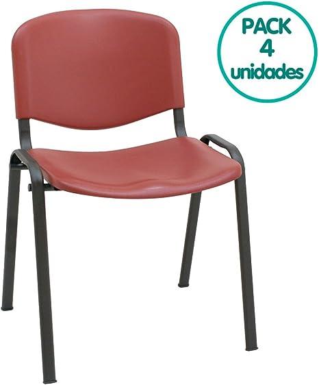 Silla confidente ISO apilables Ideal para Salas reuniones plástico ...