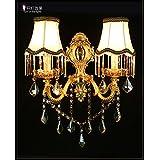 SJUN—European Crystal Led Wall Lamp Bedside Lamp Living Room Minimalist Bedroom Ideas Aisle Wall Lamp,B2
